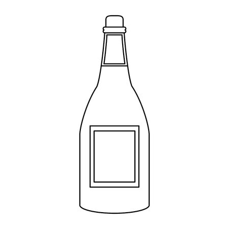 wine bottle icon over white background, vector illustration Foto de archivo - 134689801