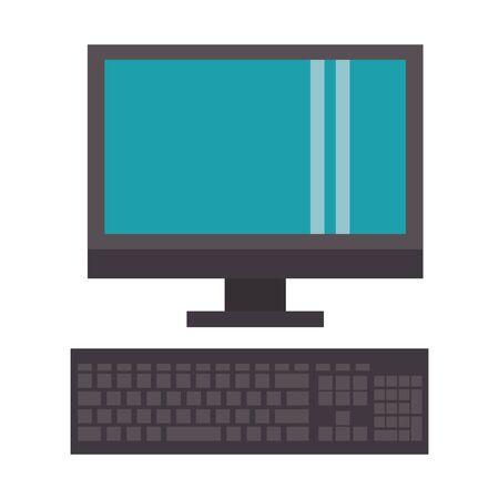 technology hardware computer device cartoon vector illustration graphic design Ilustração