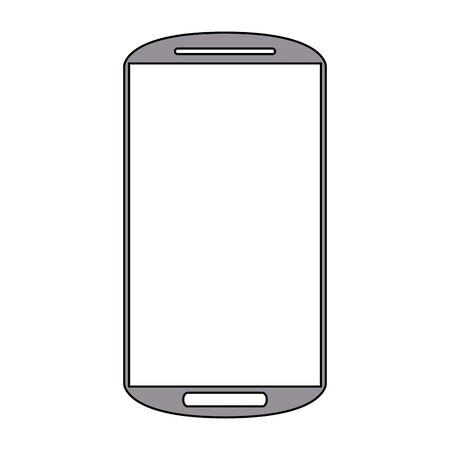 technology hardware digital mobile device smartphone cartoon vector illustration graphic design