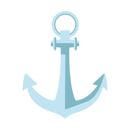 anchor marine navigation retro icon vector illustration design