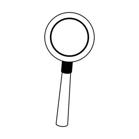 icône de loupe sur fond blanc, illustration vectorielle