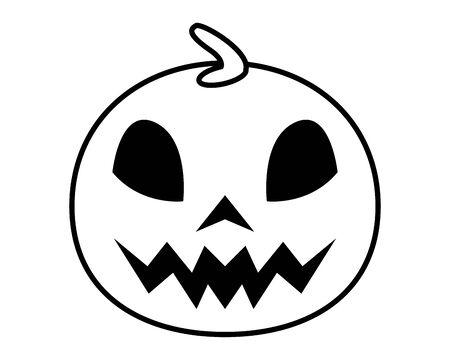 halloween pumpkin with face icon vector illustration design