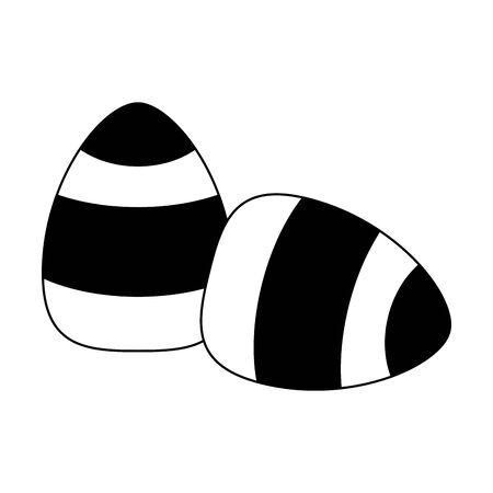 halloween october scary celebration candy eggs cartoon vector illustration graphic design 向量圖像