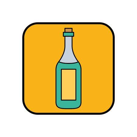 champagne bottle drink isolated icon vector illustration design Foto de archivo - 134809466