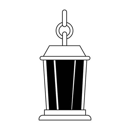 decorative lamp kerosene hanging icon vector illustration design Foto de archivo - 134690791