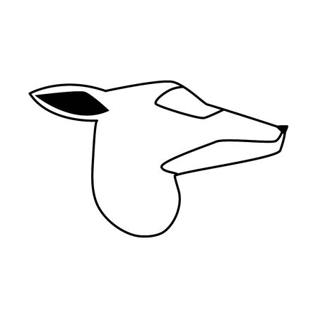 cartoon deer head icon over white background, vector illustration Иллюстрация