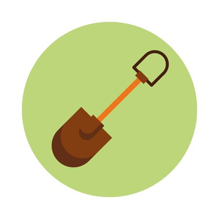 shovel gardening tool isolated icon vector illustration design