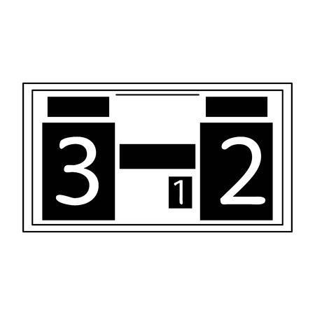 Soccer digital scoreboard sport cartoon isolated vector illustration graphic design
