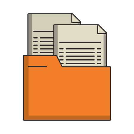 Folder with documents isolated symbol vector illustration Stock Illustratie
