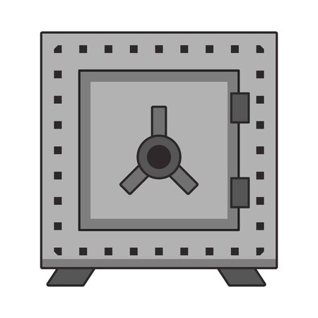 Strongbox money savings security symbol vector illustration Stock fotó - 134482808
