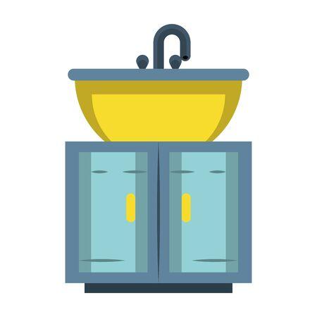 bathroom furniture water faucet cartoon vector illustration graphic design