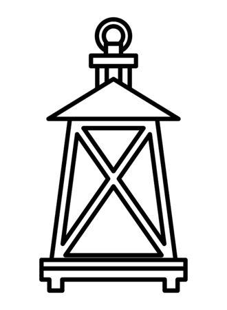 kerosene lantern antique isolated icon vector illustration design Foto de archivo - 134690974