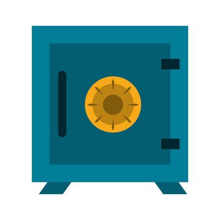 Strongbox money symbol isolated vector illustration graphic design Illusztráció