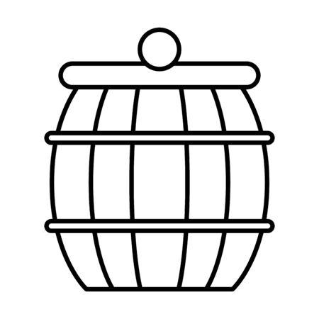 wooden barrel pot isolated icon vector illustration design