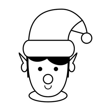 cute santa helper christmas character vector illustration design Illustration
