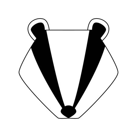 cartoon raccoon head icon over white background, vector illustration Illustration