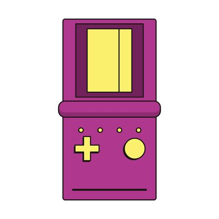 retro vintage game tetris gameplay console isolated cartoon vector illustration graphic design Illusztráció