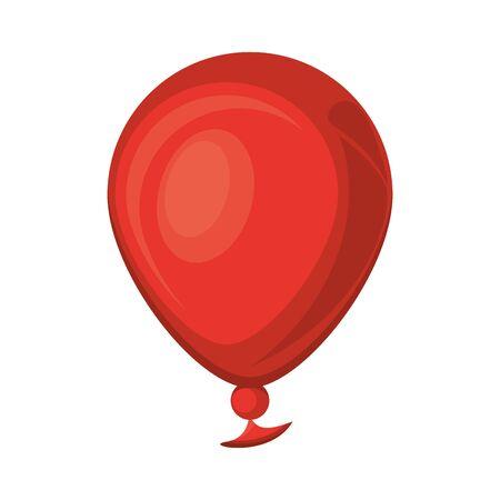 balloon helium float isolated icon vector illustration design
