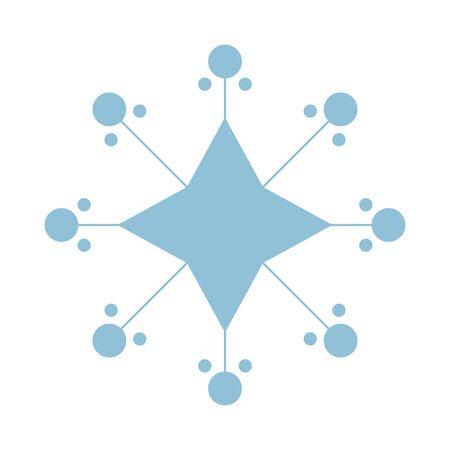 happy merry christmas snowflake icon vector illustration design