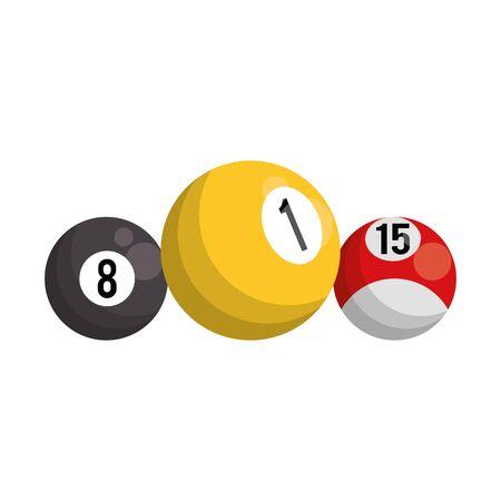 billiard balls icon over white background, vector illustration