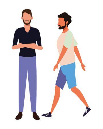 casual people men cartoon vector illustration graphic design