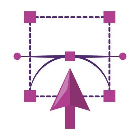 Graphic design digital software tools and symbols for creative process, art and ideas. illustration editable image Foto de archivo - 134543312