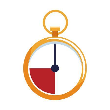 chronometer icon over white background, colorful design. vector illustration Illustration