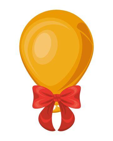 balloon helium float and bow isolated icon vector illustration design Illusztráció