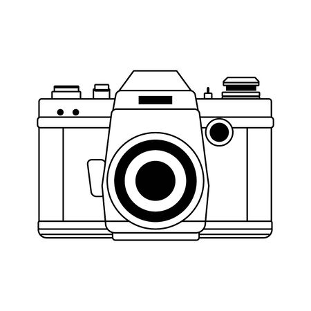 photographic camera icon over white background, vector illustration Imagens - 134558904