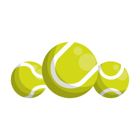 tennis balls icon over white background, vector illustration
