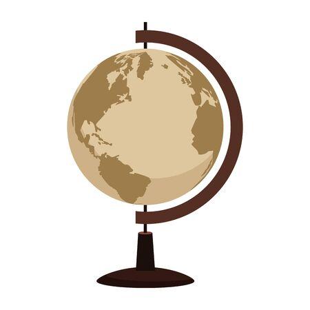 retro world map navigation icon vector illustration design Stock Illustratie