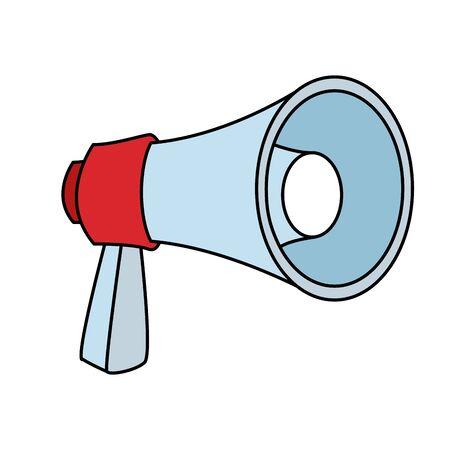 megaphone icon over white background, colorful design. vector illustration Illusztráció