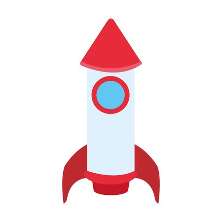 space rocket icon over white background, vector illustration 일러스트