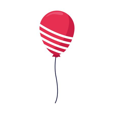 balloon with white stripes over white background, vector illustration Foto de archivo - 134809469