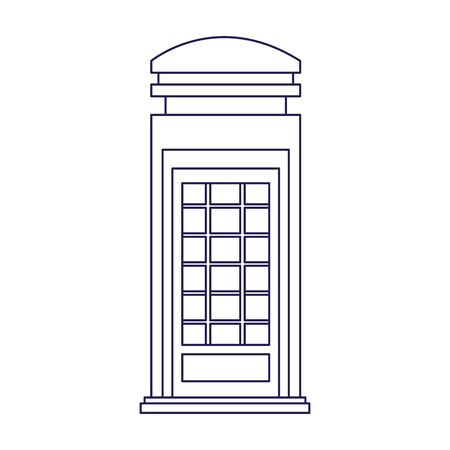london telephone box icon over white background, vector illustration