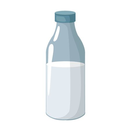 milk bottle icon over white background, vector illustration 向量圖像