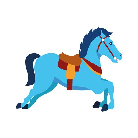 horse of carousel icon over white background, vector illustration
