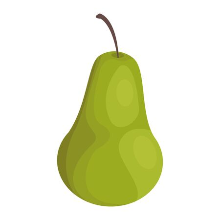 pear fruit icon over white background, vector illustration 일러스트
