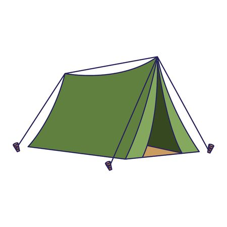 camping tent icon over white background, colorful design. vector illustration