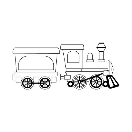 Suburban train wagon icon over white background, vector illustration