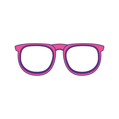glasses accessory icon over white background, vector illustration