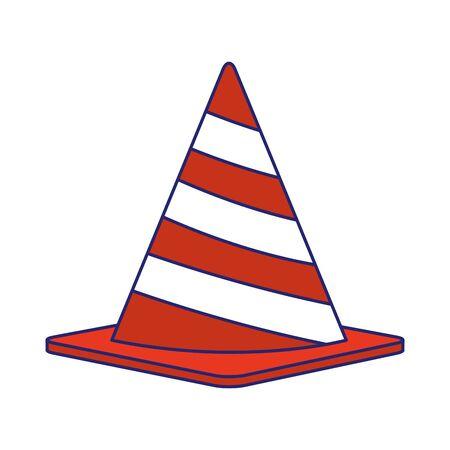 safety cone icon over white background, vector illustration Reklamní fotografie - 134635202