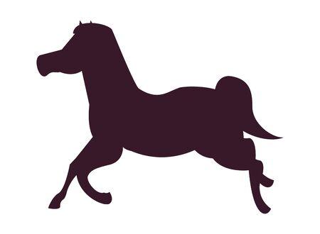 cute carousel horse isolated icon vector illustration design