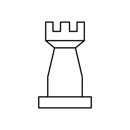 tower chess piece isolated icon vector illustration design