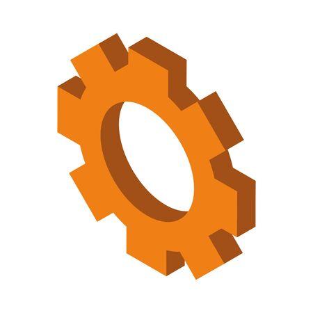 gear settings setup isolated icon vector illustration design Illusztráció