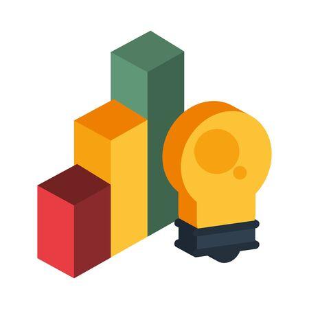bulb light energy isolated icon vector illustration design Ilustração