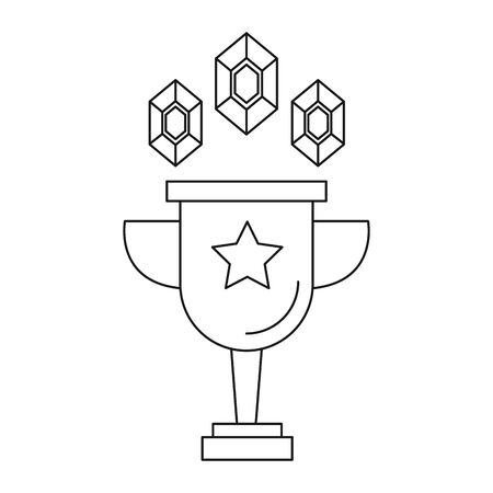 trophy cup award isolated icon vector illustration design