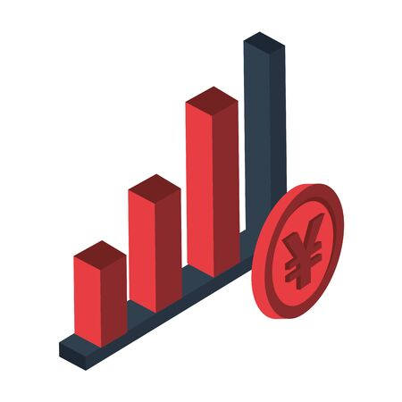 financial statistics bars graphic isolated icon vector illustration design