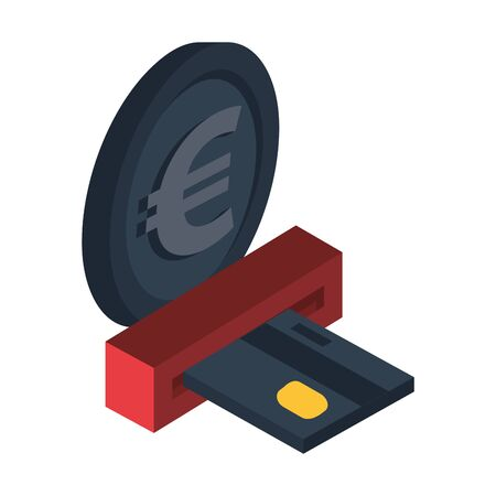 credit card economy isolated icon vector illustration design