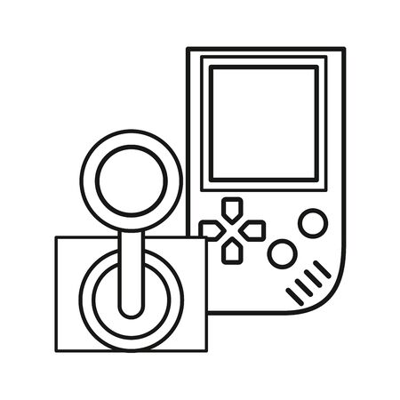 video game portable with joystick vector illustration design